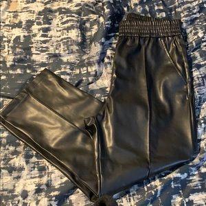 H&M Women's Faux Black Leather Pants NWOT